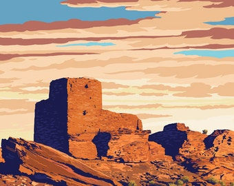 Wupatki National Monument, Arizona (Art Prints available in multiple sizes)