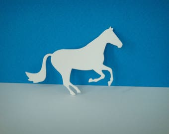Cutting horse for creating white drawing paper