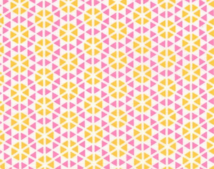 HUBBA HUBBA - Hexi Geometric in Pink and Orange - Bold Fun Flirty Cotton Quilt Fabric - My Sister & Me for Moda Fabrics - 22214-18 (W3959)