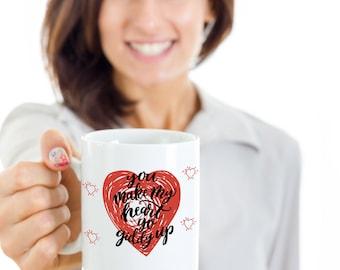 You Make My Heart Go Giddy Up Valentines Coffee Mug- Valentines Day Gift
