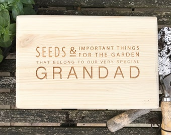 Gardeners Gift - Seed Box - Storage Box - Gardening - Grandparents Gift - Gift for Dad - Gift for Him - Parents Gift - Gift for Mum -Garden
