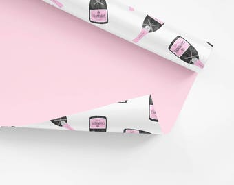 5x Wrapping Paper / Champagner