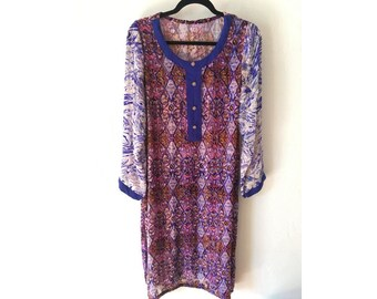 Caftan Dress / Sheer Dress/  Velvet Dress/ Burnout Dress/ Boho Dress