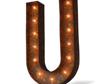 Iconics Marquee Light: Letter U