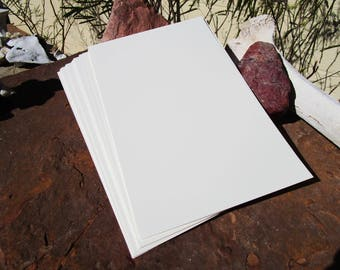 24 Sheets Heavy Textured Card stock~Spell Writing Paper~Craft Paper~Supply~Off-White~Scrapbooking~Book of Shadows