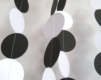 Wedding/ Birthday Party Paper Garland - Black and White