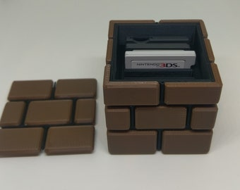 3DS / DS Brick Style Game Case | Nintendo | Video Game | Retro Gaming | Mario | Zelda | 3D Printed |