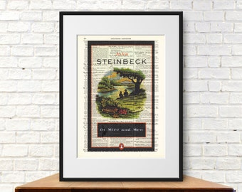 Of Mice and Men by John Stienbeck. Book Cover Art Print