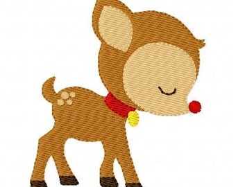 Embroidery Design, Christmas Reindeer  // Joyful Stitches