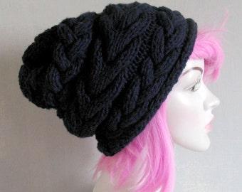 White Slouch hat Slouchy knit hat for women  Beanie Hat Oversized hat  knit hat women slouchy hat  Women Knit Hat Chemo Headwear