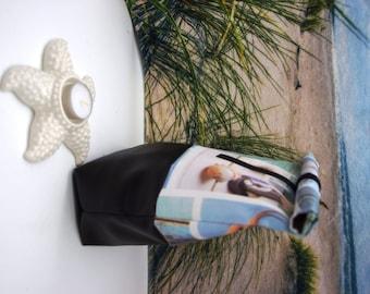 Maritime motifs, Lunchbag, Anchor, Ahoy, Maritim, clam, bikini bag, Bikinibag, cosmetic bag with velcro, bag, bag, synthetic leather, Oilcloth