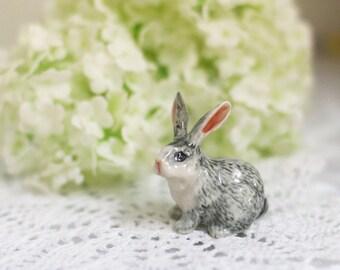Little bunny. Miniature ceramic.