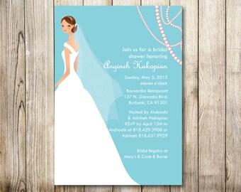 Bridal Shower Invitation - Digital Download