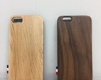 Wooden case for iPhone 7/7plus handcraft in France with french FSC wood, ultra slim and solid for and unique design