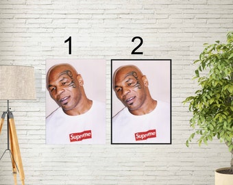 "Supreme X Mike Tyson Poster - Street Urban Artwork Print - Michael Gerard Tyson Poster - Former Legendery Boxer - Size 13x20"" 24x36"" 32x48"""