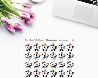 Amanda The Panda ~ ON a DATE ~ Time Planner Stickers CAM Panda 020