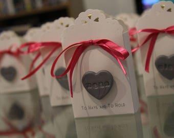 "Handmade Clay Heart inscribed ""name"""