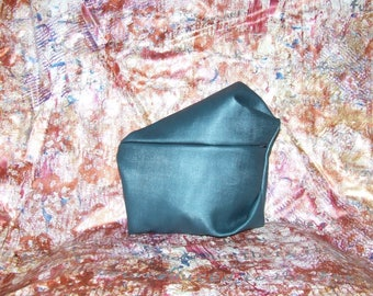 One off Hand Sculpted Metallic Green Bag