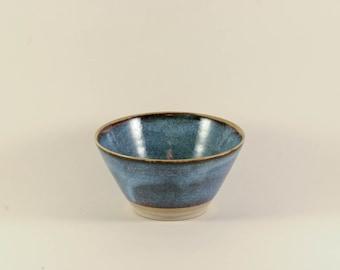 Small blue textured ceramic handmade Bowl