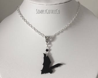 Gothic Bat Flight Necklace