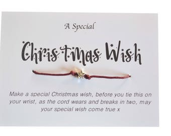 A Special Christmas Wish, Wish Bracelet, Secret Santa, Stocking filler