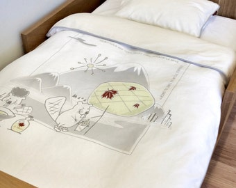 "Organic Cotton Toddler Duvet Cover Set, ""Canada"" Theme"