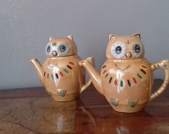 Vintage Owl Teapot and Water