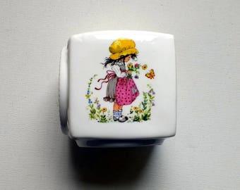 Gisela Gottschlich Vintage Money Bank 1970s Kitsch Purbeck Ceramics Pink Apron Sale