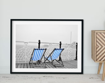 Brighton Beach Chairs - Urban Photography - DIGITAL DOWNLOAD / Printable Wall Art
