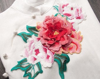 3D Flower Appliques Embroidered Patch