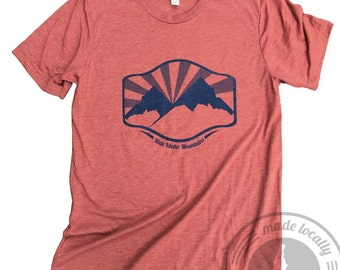 Ride Idaho Mountains Tee- BANANA ink