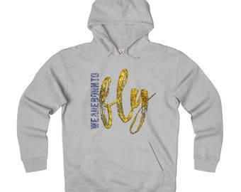 Born To Fly Adult Unisex Heavyweight Fleece Hoodie