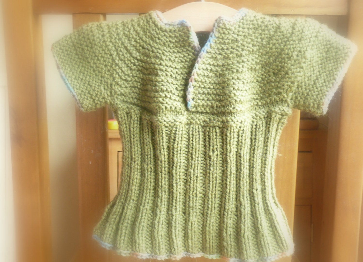 Knitting PATTERN Seamless Top Down Baby Sweater Jumper Tunic- Trixie ...