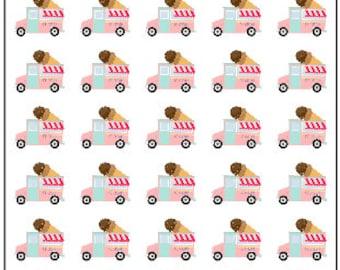 40 Ice Cream Truck Planner Stickers