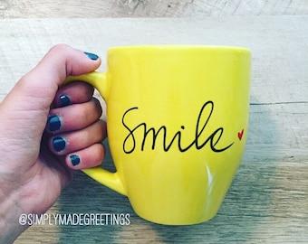 Smile mug, inspirational mug, funny mug, smile