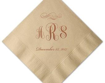 100 Personalized Napkins Personalized Napkins Wedding Napkins Custom Monogram
