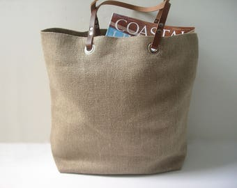 Jute Tote Bag, Casual Summer Beach Bag
