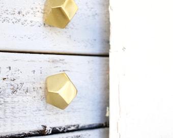 Geometric Knobs, Gold Decor, Knobs, Gold Knobs, Drawer Knobs, Metal Knobs