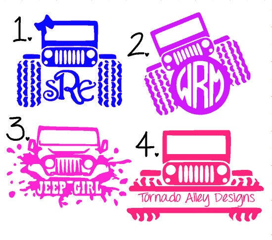 Monogram decal • yeti cup decal •jeep vinyl decal • glitter dipped yeti • custom vinyl monogram decal • car • phone • laptop • ice ches