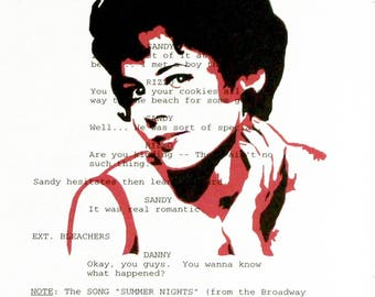 Pink Ladies RIZZO PRINT ONLY on Vintage Grease movie script page