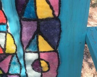 ooak needle felted  scarf