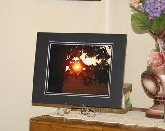 Sunset, Rural, Farmland, Stilesville, Indiana, Fine Art Photograph, Indiana Art, Woodland Photography, Nature Photography, 8 x 10, Matted