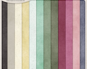 Pregnancy Journal, Expectant Mothers, Solid Colors, Digital Paper Pack, Instant Download, Newborn Baby, Backgrounds For Scrapbook Pages