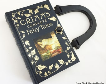 Grimms Complete Fairy Tales Recycled Book Purse - Fairy Tales Bookish Gift - Fairy Tales Book Clutch - NovelCreations Book Cover Handbag