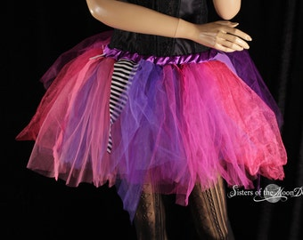 Ready to ship adult tulle tutu skirt poofy funky fairy pixie trashy dance costume party club rave race event XS-Small - Sisters of the Moon