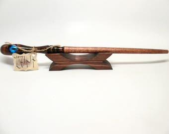 Magic Wooden Wizard Wand Handcrafted Wiccan Witch Fairy Wand #1744