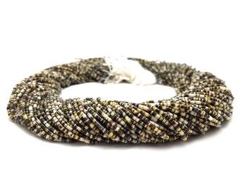Black Lip Shell Heishi Beads (1.5 mm, 24 Inches Strand)