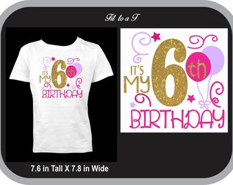 Girl's  Birthday T-Shirt , Birthday Shirt, Birthday Girl T-Shirt, Birthday Girl Gift