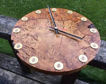 Oak burr clock - hand turned