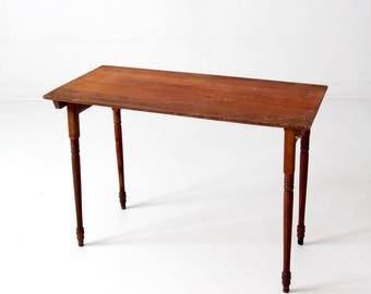 vintage sewing table, wooden folding table, tailor's table
